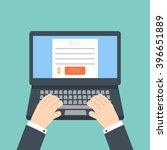 online invoice laptop   Shutterstock .eps vector #396651889