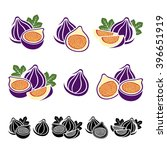 figs set. vector | Shutterstock .eps vector #396651919