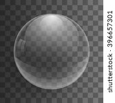 transparent glass sphere with... | Shutterstock .eps vector #396657301