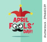 april fool's day  typography ... | Shutterstock .eps vector #396660139