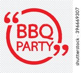 bbq party lettering... | Shutterstock .eps vector #396669307