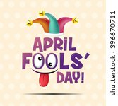 april fool's day  typography ... | Shutterstock .eps vector #396670711