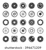 camera shutter and lenses icons ... | Shutterstock .eps vector #396671209