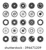 camera shutter and lenses icons ... | Shutterstock .eps vector #396671209