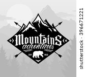 vector mountain and outdoor... | Shutterstock .eps vector #396671221