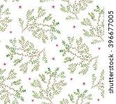 watercolor twigs pattern.... | Shutterstock .eps vector #396677005
