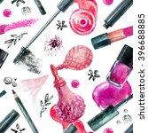watercolor beauty seamless... | Shutterstock . vector #396688885