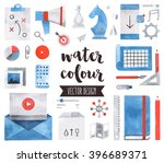 premium quality watercolor... | Shutterstock .eps vector #396689371