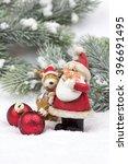 Santa Claus Figure With Elk Fo...