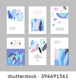 collection of creative cards... | Shutterstock .eps vector #396691561