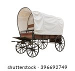 Covered wagon with white top...