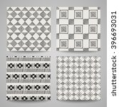 set of creative patterns with... | Shutterstock .eps vector #396693031