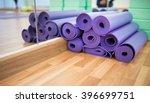 yoga mats in yoga club | Shutterstock . vector #396699751