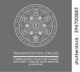 transmutation circles. line art.... | Shutterstock .eps vector #396700885