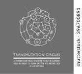 transmutation circles. line art.... | Shutterstock .eps vector #396700891