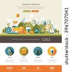 healthy lifestyle website... | Shutterstock .eps vector #396707041