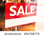 sale sign with copy space in a... | Shutterstock . vector #396708775
