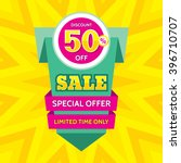 sale vector banner design  ... | Shutterstock .eps vector #396710707
