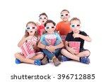 little kids watching movies...   Shutterstock . vector #396712885