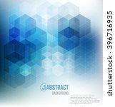 vector abstract geometric... | Shutterstock .eps vector #396716935
