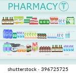 modern pharmacy drugstore... | Shutterstock .eps vector #396725725