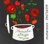 tomato soup image | Shutterstock .eps vector #396726559