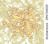 background with yellow floral... | Shutterstock .eps vector #396734035