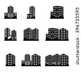 buildings icons | Shutterstock .eps vector #396735595