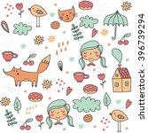 cute vector print | Shutterstock .eps vector #396739294