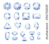 set of flat style white jewels. ... | Shutterstock .eps vector #396742039
