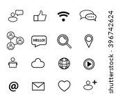 social icons set | Shutterstock .eps vector #396742624