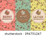 set of chocolate seamless  for... | Shutterstock .eps vector #396751267