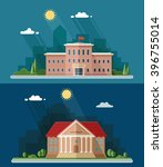 education set. university and... | Shutterstock .eps vector #396755014