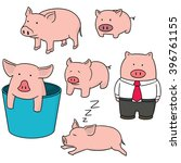 Vector Set Of Pig