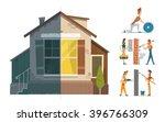 home house repair renovation...   Shutterstock .eps vector #396766309