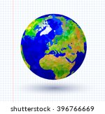 vector illustration of earth... | Shutterstock .eps vector #396766669