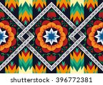 geometric ethnic pattern floral ... | Shutterstock .eps vector #396772381