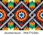 geometric ethnic pattern floral ... | Shutterstock .eps vector #396772381