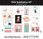 cute scandinavian set of... | Shutterstock .eps vector #396777199