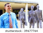 happiness businessman on... | Shutterstock . vector #39677764