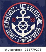 vintage anchor typography   for ... | Shutterstock .eps vector #396779275