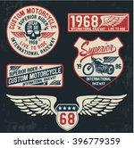 motorcycle typography set  t... | Shutterstock .eps vector #396779359