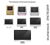the evolution of computers   7... | Shutterstock .eps vector #396781849