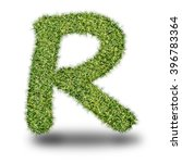 r uppercase alphabet made of...