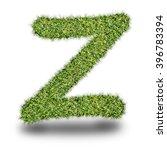 z uppercase alphabet made of...
