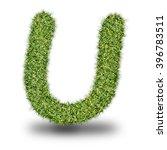 u uppercase alphabet made of...