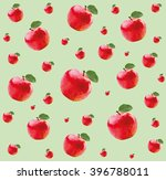 pattern with red apples in...