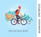 mountain biking  sports ... | Shutterstock .eps vector #396789151