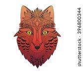 vector illustration of the fox  ... | Shutterstock .eps vector #396800344