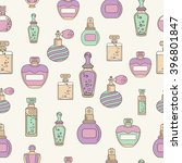 perfume seamless with outline... | Shutterstock .eps vector #396801847